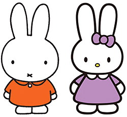 人気キャラクター「ミッフィー」と「キャシー」